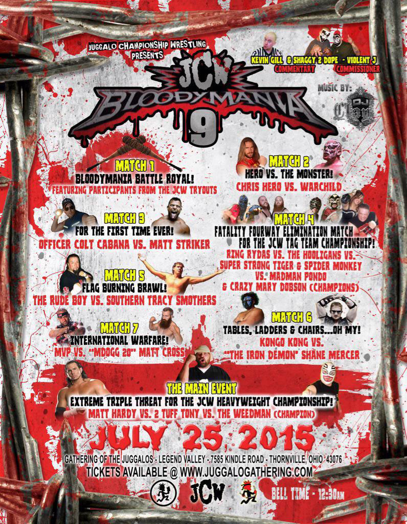 the riddle box the gathering of the juggalos 2015 wrestling
